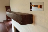 Distressed Beam Mantel Shelves - Contemporary - los ...
