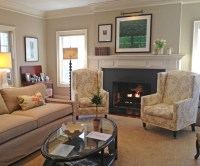 Charming Traditional Living Room with Cozy Fireplace ...