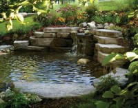 How to secure a retaining wall around a pond?
