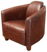 Rocket Brown Top Grain Leather Club Chair - Midcentury ...