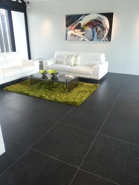Black Tile Flooring Modern Living Room u2013 Modern House - tile living room floors