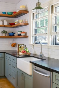 Reclaimed Open Shelving - Farmhouse - Kitchen ...