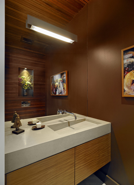 Outdoor Lighting Houzz Custom Concrete Sink - Modern - Powder Room - San