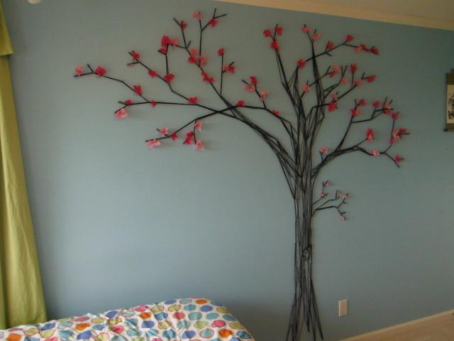 Tree Mural For Nursery Cherry Blosson Tree Mural - Modern - Bedroom - vancouver
