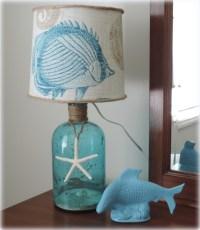 DIY Decor: A Beach Inspired Bottle Table Lamp - Beach ...