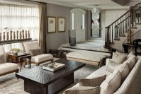 Monochromatic Living Room - Eclectic - Living Room ...