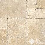 Tuscany Beige Travertine Floor Tile Pattern