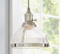 PB Classic Pendant, Ribbed Glass - Industrial - Pendant ...
