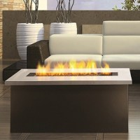 Key West Fire Coffee Table with Stainless Steel Top