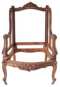 Pre-owned Ornate Chair Frame - Traditional - Armchairs And ...