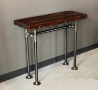 Rustic Industrial Wood & Pipe Console Table rustic-console ...