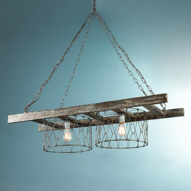 Kitchen Supplies Long Island Rustic Ladder Island Chandelier - Chandeliers - By Shades