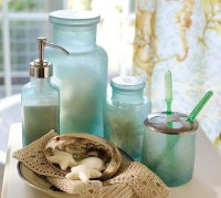 Blue Beach Glass Bath Accessories - Tropical - Bathroom ...