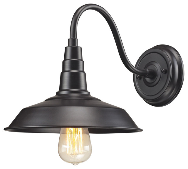 Farmhouse Wall Sconce Urban Lodge 1-light Sconce In Oil Rubbed Bronze