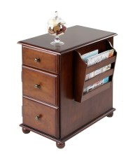 Krissy End Table with Magazine Rack - Traditional - Side ...