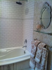 French Boutique Hotel Inspired Bathroom - Traditional ...