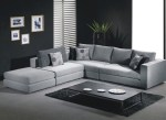Silver Modern Sectional Sofa