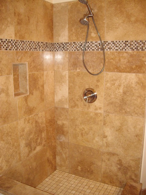 Travertine mediterranean bathroom san diego by guedes