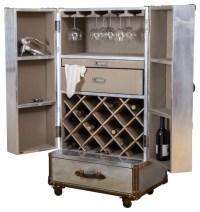 Leandro Rolling Storage Steamer Wine Cabinet - Industrial ...