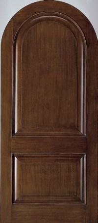 Jeld-Wen A1202 Mahogany Woodgrain Radius Top Panel Door ...