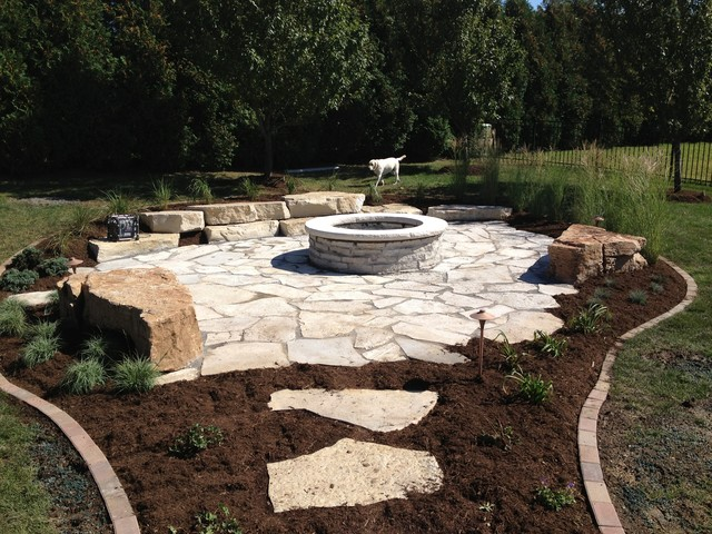 Rustic Fire Pit Patio