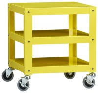 Go-Cart Yellow Rolling Table - Modern - Side Tables And ...