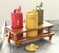 Picnic Table Condiment Set - Contemporary - Condiment Sets ...