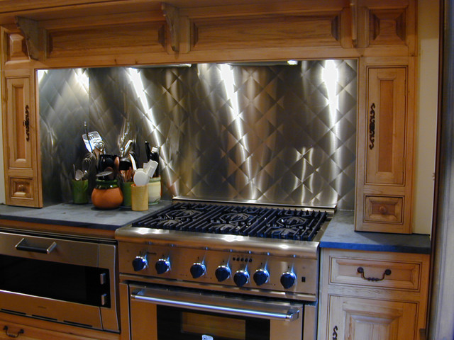 stainless steel backsplash brooks custom contemporary kitchen stainless steel subway tile kitchen backsplash large stainless