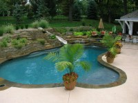 Backyard Living - Tropical - Pool - kansas city - by Banks ...