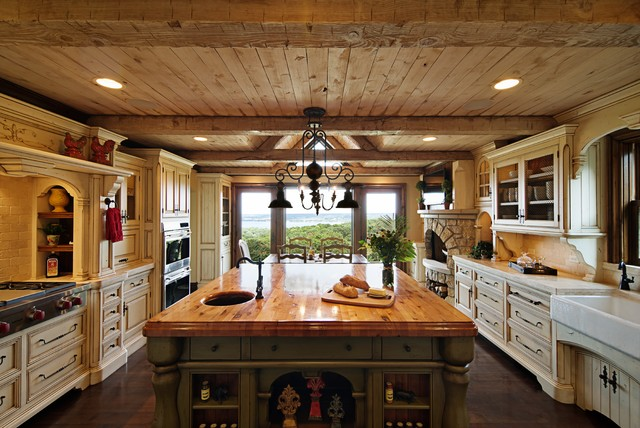 Over Kitchen Sink Lighting Rustic Elegance Kitchen - Rustic - Kitchen - Chicago - By