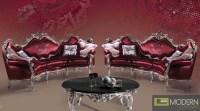 Rovigo - Transitional Italian Style Burgundy and Silver ...
