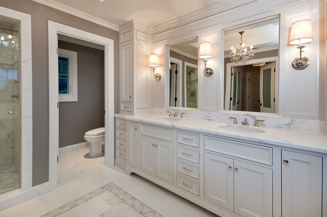 Houzz Master Bathrooms Master Bath In White - Traditional - Bathroom - San