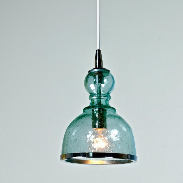 Mini Pendant Light Shade Colored Seeded Glass Pendants (3 colors!) - Pendant Lighting