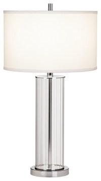 Contemporary Striated Glass Cylinder Table Lamp ...
