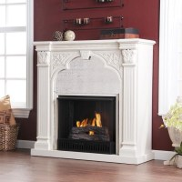 Kidwell Antique White Gel Fuel Fireplace - Modern - Indoor ...