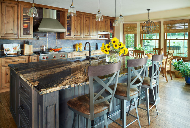 Rustic Kitchen In Highlands Ranch Rustic Kitchen