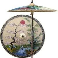 Asian Spring Outdoor Patio Umbrella, Sand asian-outdoor ...