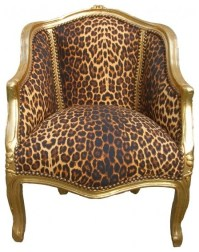 Dana French Louis XV style Lounge Chair in Leopard ...