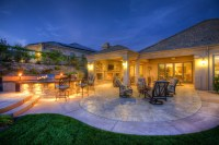 Del Sur - French Country Home Backyard - Traditional ...