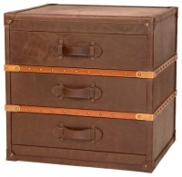 Steamer Trunk End Table - Eclectic - Nightstands And ...