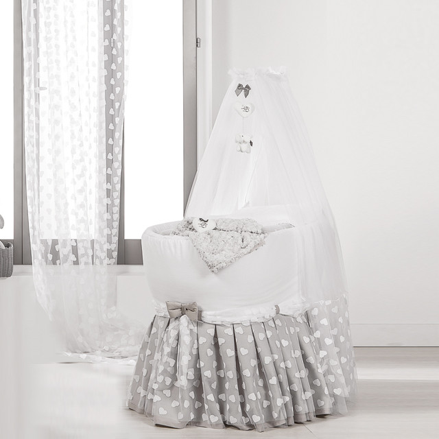 Luxury Baby Crib With Dressing Veil Miro By Picci