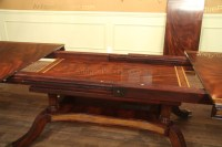 Mahogany Dining Table with Platform Base and Self Storing ...