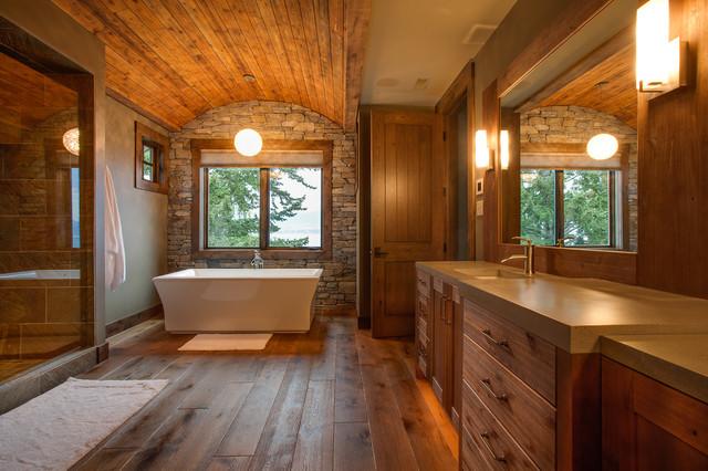 Living Room Furniture Kelowna Private Kelowna Residence - Rustic - Bathroom - other metro - by Norelco Cabinets Ltd