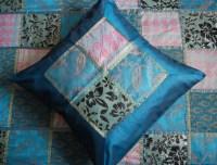 Teal Blue Indian bedspread set - Asian - Bedding - london ...