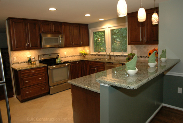 U Shaped Kitchen Layout With Peninsula U-Shaped Kitchen Remodel - Contemporary - Kitchen - dc metro - by RJK Construction Inc