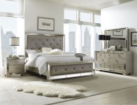 Celine 6-piece Mirrored and Upholstered Tufted King-size ...