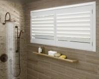 Vinyl Shutters in Master Bathroom Windows - Contemporary ...