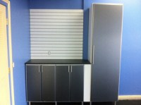 Garage Cabinets with Carbon Fiber doors - Contemporary ...