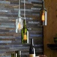 Recycled Wine Bottle Pendant Lamp - Industrial - Pendant ...