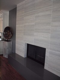 Contemporary Tile Fireplace - Contemporary - Living Room ...